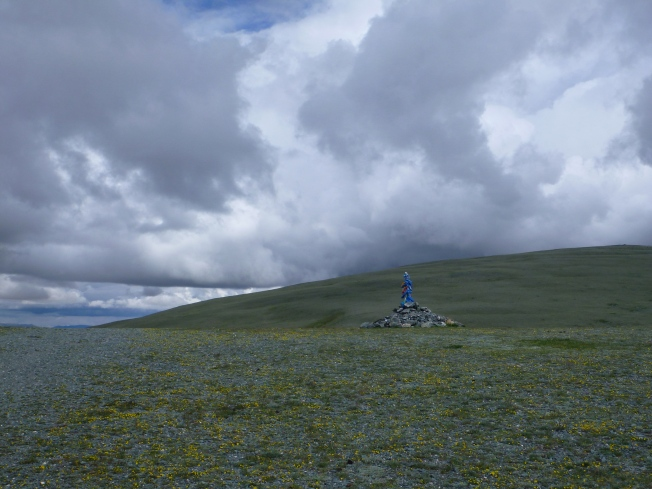 An ovoo at the pass