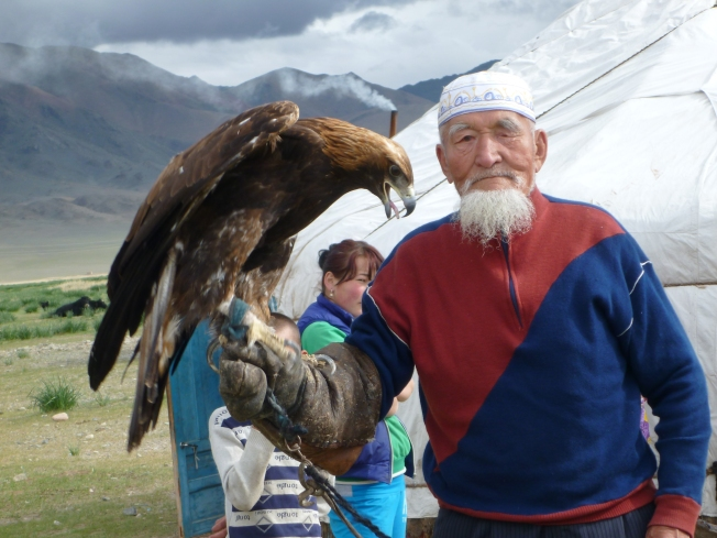 The eagle master and his bird.