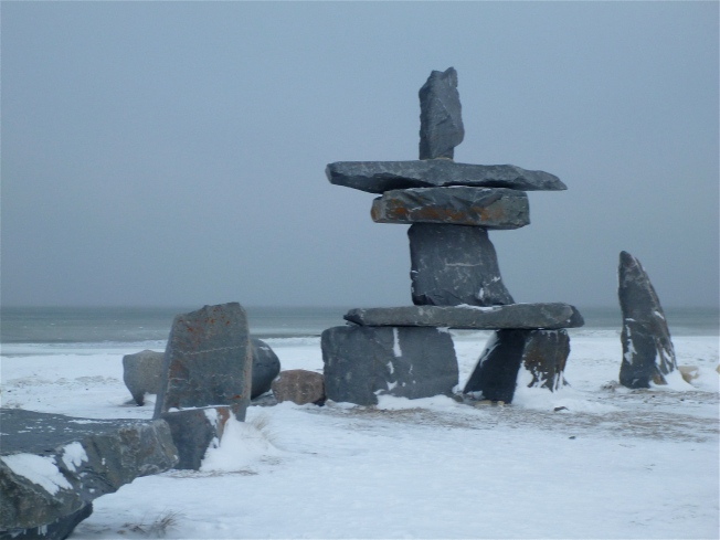 Inukshuk in Churchill.