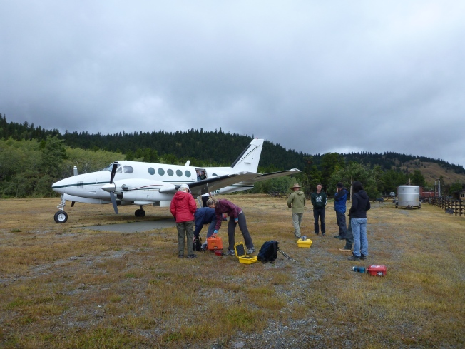 Our Twin Otter lands.