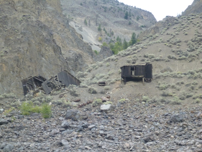 Remnants of gold mining.