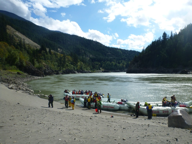 The vacationing guides had left us, and a group of elders filled the second raft.