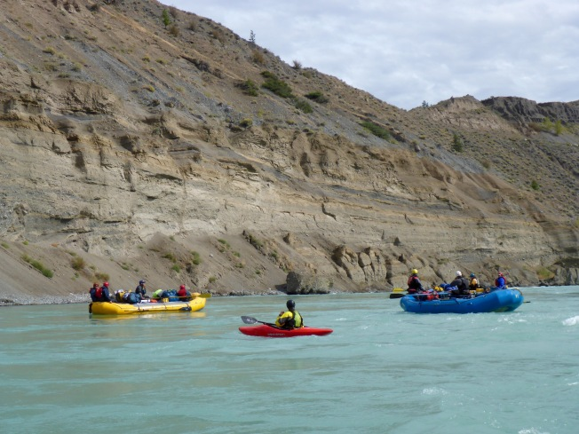 Rafts and kayak