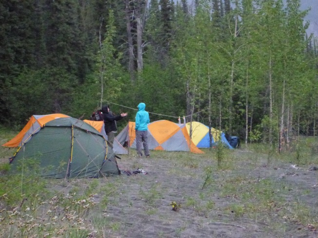 Camp above Clearwater Creek