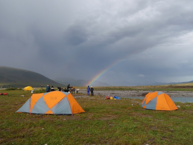 First camp near Margaret Lake, and a first taste of Firth weather